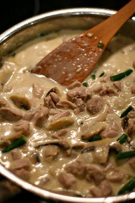 Mushroom garlic butter sauce - would be good with cooked chicken in it. Would make a very tasty easy meal!