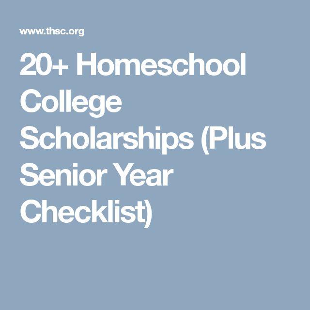 20+ Homeschool College Scholarships (Plus Senior Year Checklist)