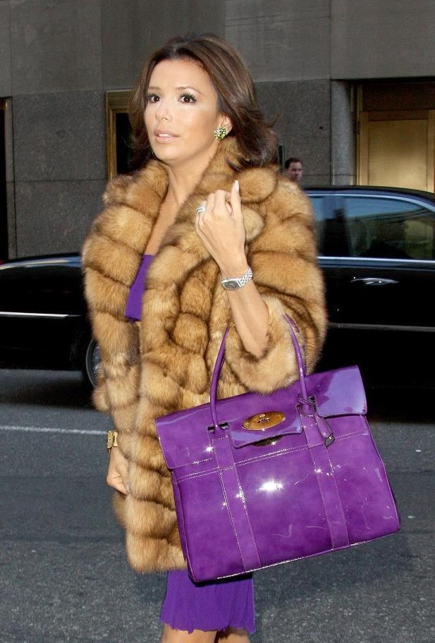 Celebrity fursFur Coats, Celebrities Fashion, Fashion Style, Celebrities Fur, Actresses Style, Fashion Bags, Celebrities Street, Eva Longoria, Fur Fashion