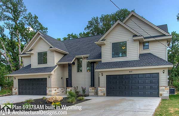 Duplex House Plan 69378AM built in Wyoming. Where do YOU want to build? We're #readywhenyouare