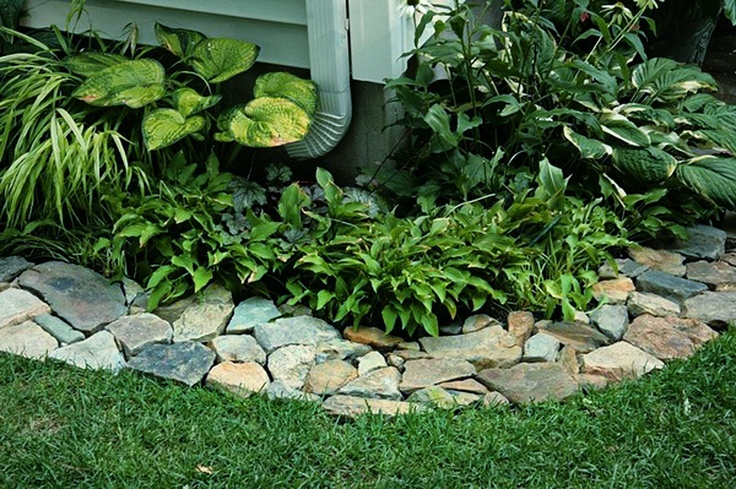 Loving the rock path border outdoor livin pinterest for Path and border edging