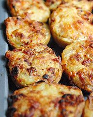Stuffed Baked Potatoes with sour cream, cheddar cheese and bacon,     #foodies #recipes