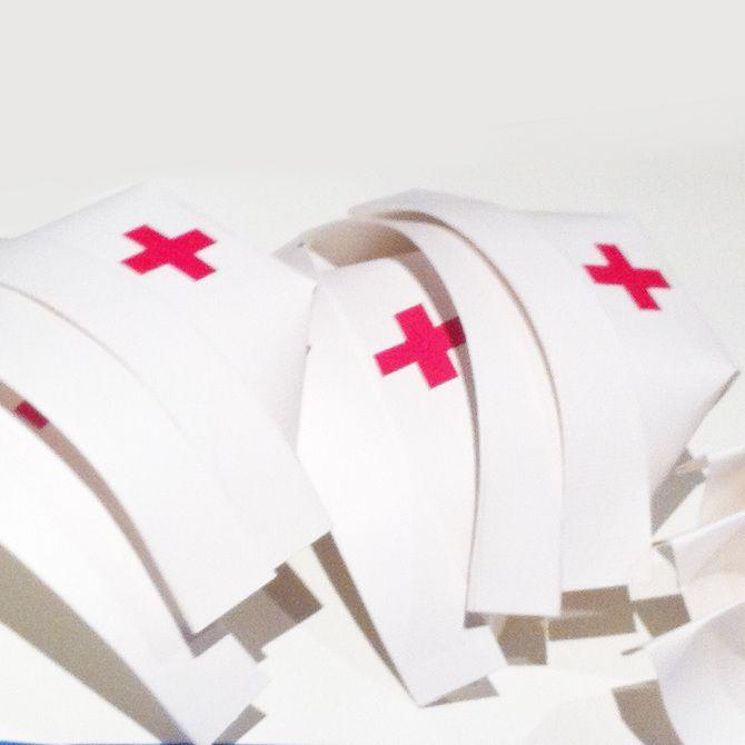 Diy Nurse Hats Art Community Helpers Pinterest