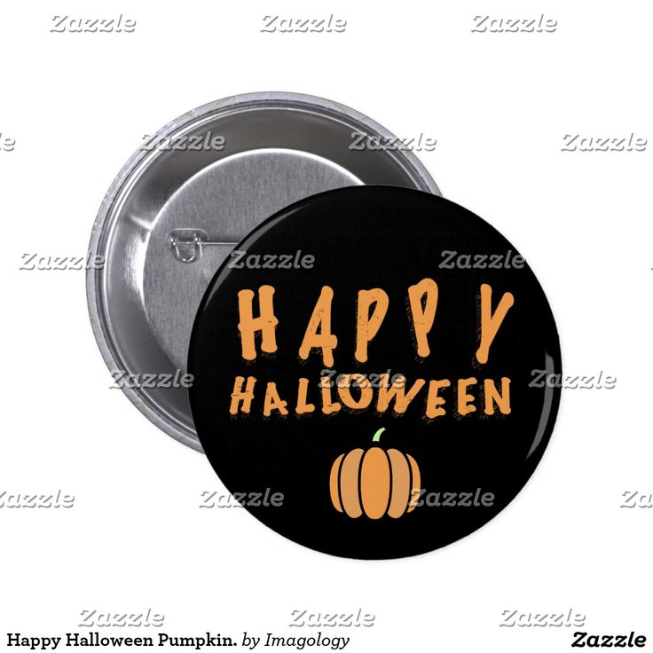 Happy Halloween Pumpkin. Pinback Button
