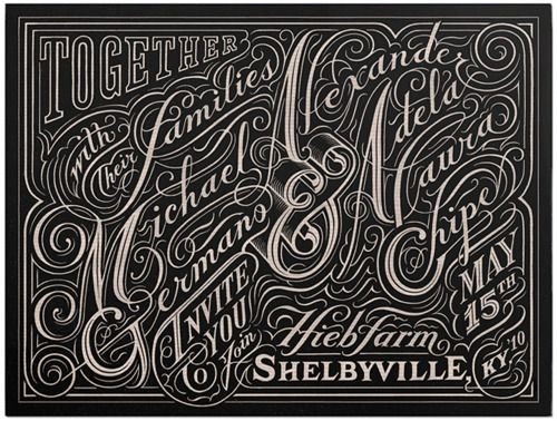 via TypeEverything.comVintage Types, Inspiration, Typo Design, Art, Wedding Invitations, Hands Letters, Typography, Hands Drawn, Alex O'Loughlin