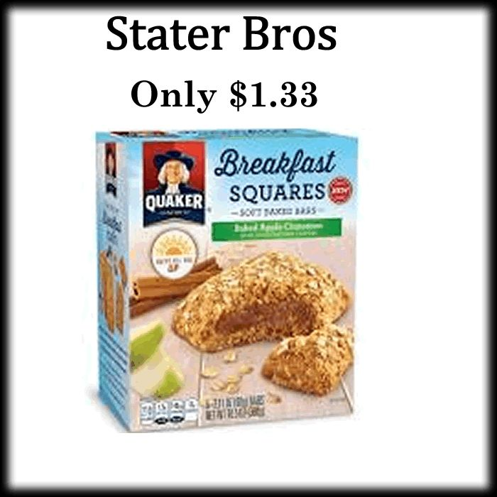 These are delicious! Who has tried it? - http://dealmama.com/2017/06/stater-bros-quaker-breakfast-squares-0-99/