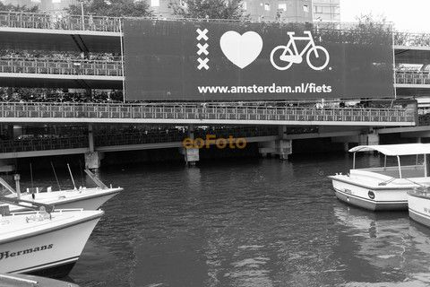 Bike garage at Amsterdam Central Station.