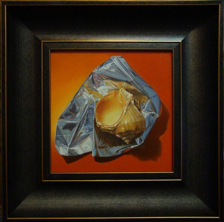 ,,Precious''-oil on canvas-25X25cm by artist Florentin Vesa