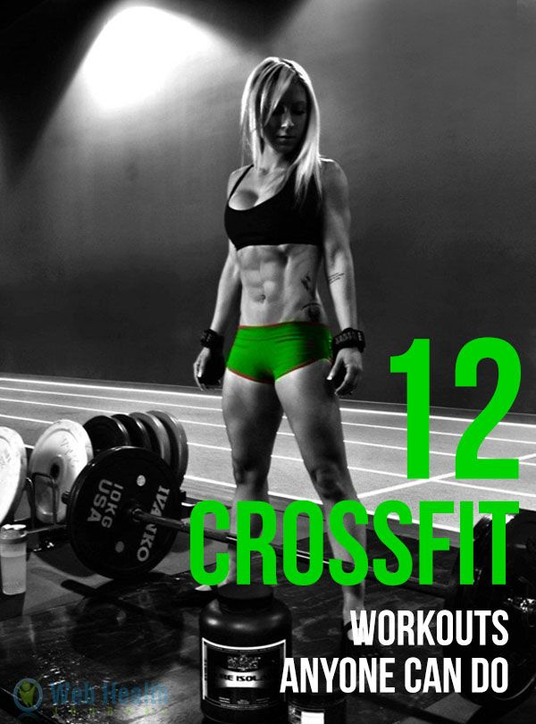 12 Cross Fit Workouts Anyone Can Do.  Get more info at http://www.bodybuildingreports.com