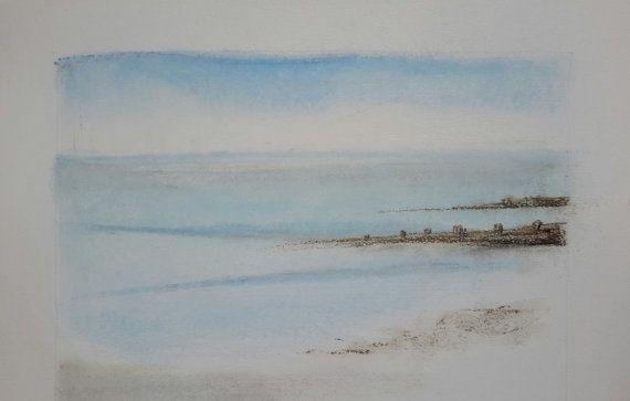 Matin calme Pastel sec Art original sur papier par GalerieDeLoing