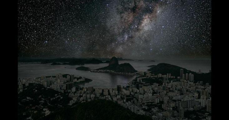 Artista retrata cidades escurecidas e estreladas, sem poluição da luz - Notícias - UOL Entretenimento