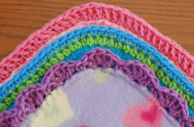 crochet edging {patterns}: Crochet Blankets, Blankets Edge, Edge Patterns, Crochet Border, Fleece Blankets, Crochet Edge, Crochet Patterns, Easy Crochet, Crochet Knits