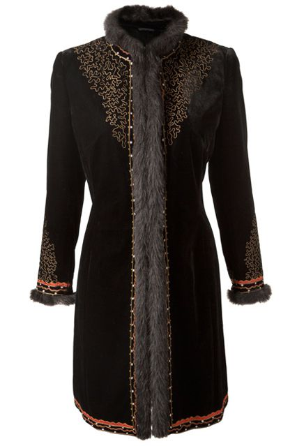 East Embroidered Russian Coat - Winter Coats & Jackets 2012 (EasyLiving.co.uk)