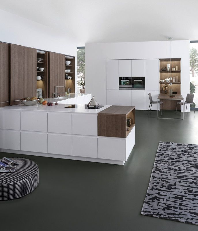 PUR-FS | TOPOS › Lacquer › Handle-less kitchens › Kitchen › Kitchen | LEICHT – Modern kitchen design for contemporary living