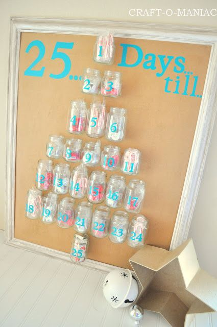 Craft-O-Maniac: Advent Calender from Recycled Baby Food Jars