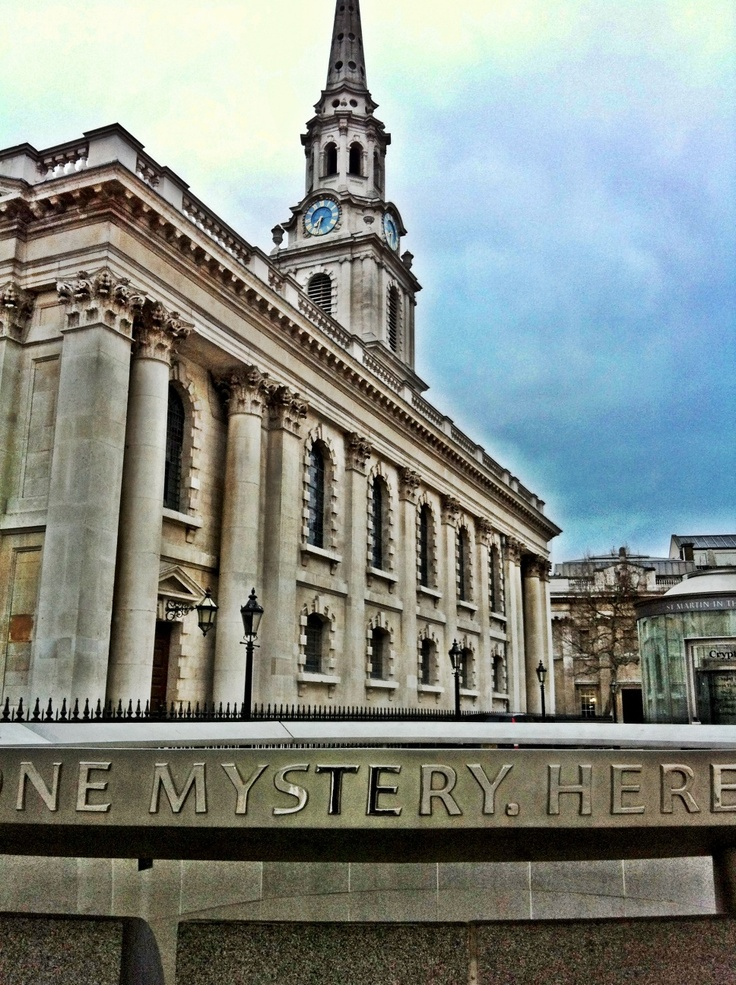 St Martin in the Fields, London. Mystery here ...