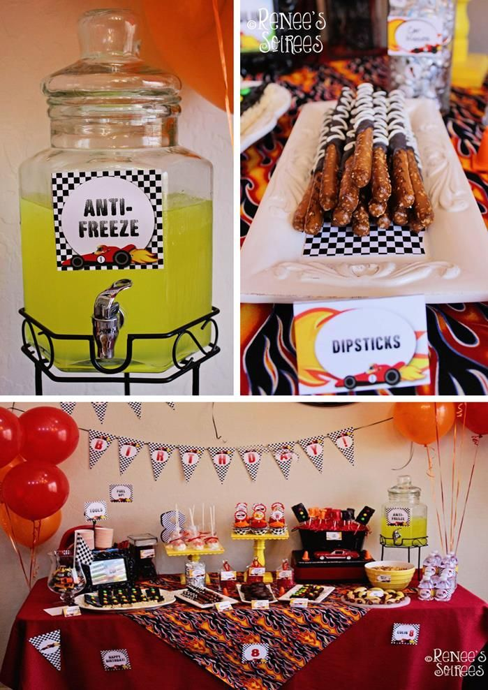 Race Car Birthday Party with LOTS of AWESOME IDEAS via Kara's Party Ideas | Kara'sPartyIdeas.com #RaceCar #Party Idea #boy #decorations