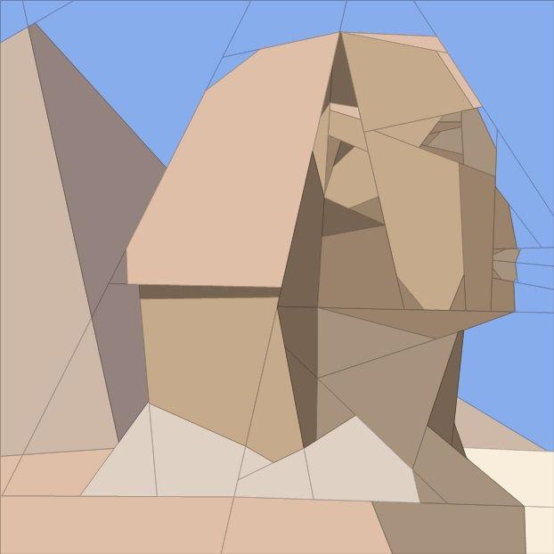 July BOM - Giza, Egypt Paper Piecing Patterns quiltartdesigns.blogspot.com