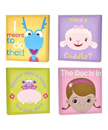 another great find on zulily doc mcstuffins canvas wall art set by doc mcstuffins