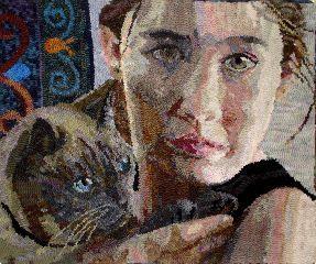 """Precious"" hand hooked by Wanda Kerr {{stunning}}"