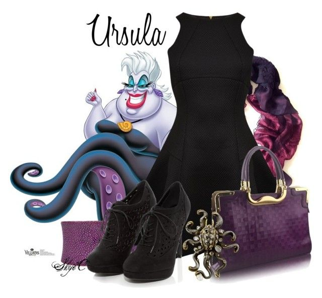 """Ursula - Disney's The Little Mermaid"" by rubytyra ❤ liked on Polyvore featuring Yuh Okano, UNEARTHED, Ted Baker, Marilyn F. Cooperman, women's clothing, women's fashion, women, female, woman and misses"