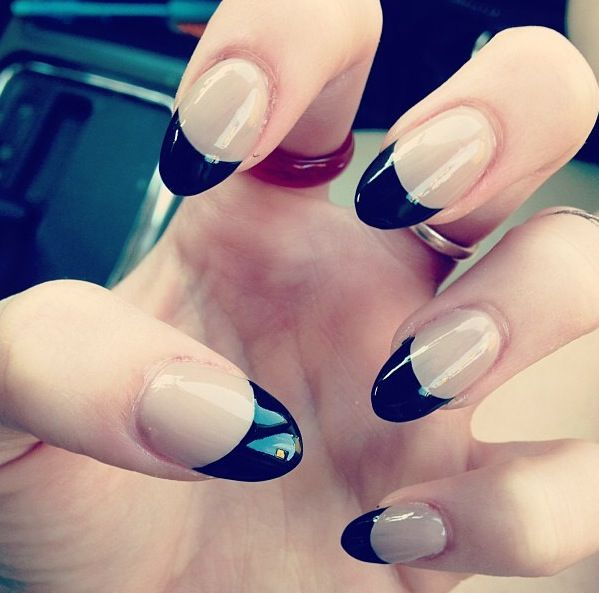 black tip nails tumblr - photo #43