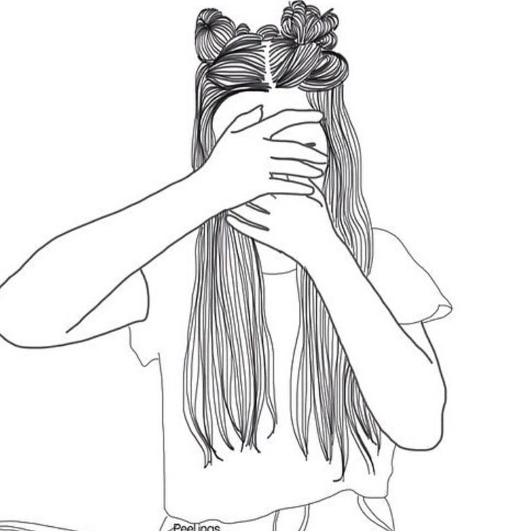 Картинка девушки нарисованная карандашом без лица