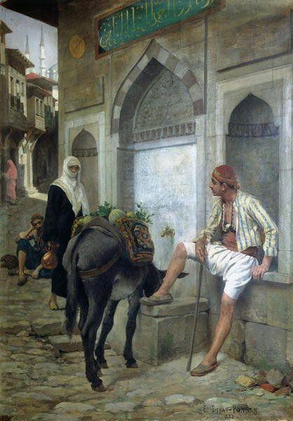 A Street in Istanbul, 1883 by Edouard Debat-Ponsan: