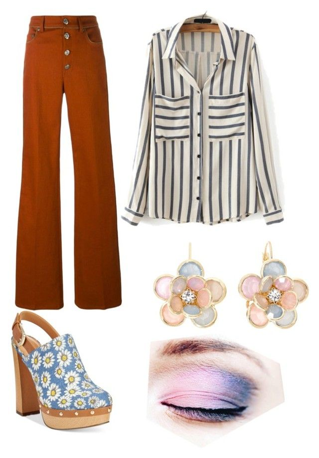 """Donna From That 70s Show Inspired."" by direwolfpixie on Polyvore featuring Report, Sonia Rykiel, Mixit, women's clothing, women, female, woman, misses, juniors and clogs"