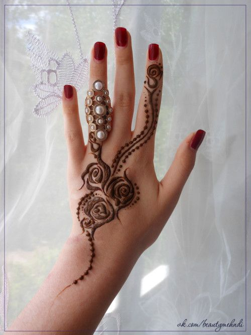 42 best rose mehndi design images on pinterest for Rose henna tattoo