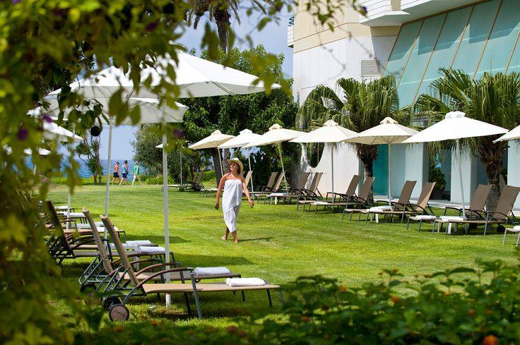 Relaxing at the beautiful gardens of Louis Imperial Beach Hotel, Paphos #louisimperialbeach