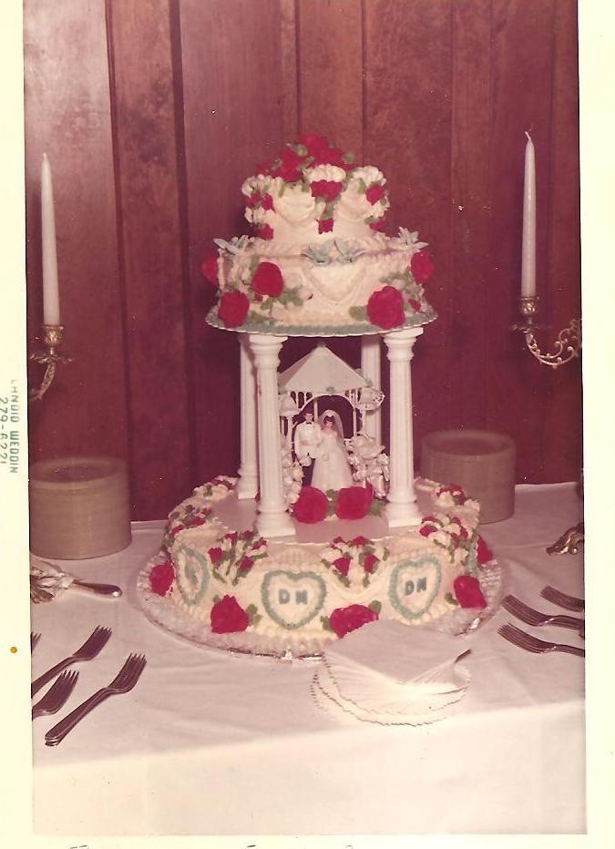 1970's Wedding cake!