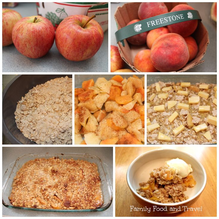 Apple Peach Crisp Recipe