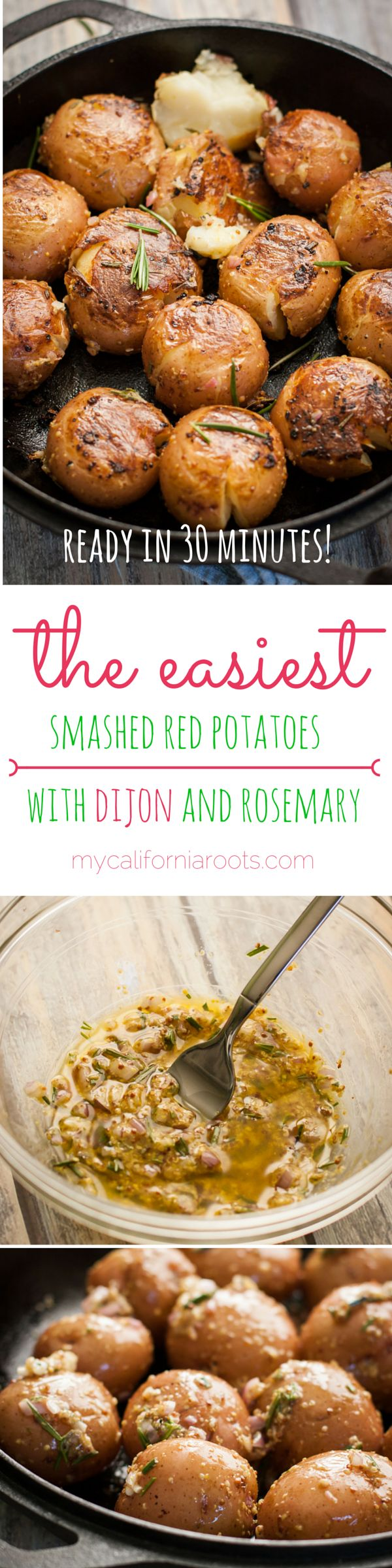 These smashed red potatoes require just one pot and no oven!
