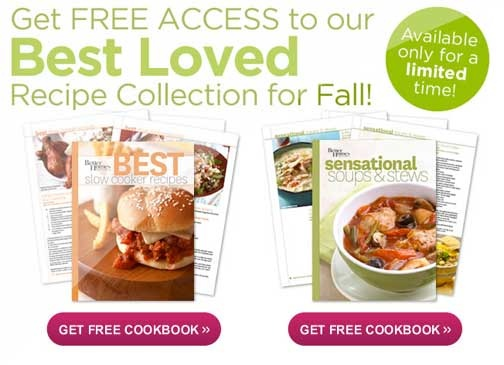 Better Homes & Gardens has two really great cookbooks available for free!
