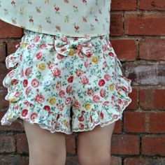 Lolita Shorts PDF sewing pattern by Felicity Sewing Patterns. Cute easy to sew shorts for girls 2-12 years. http://www.felicitysewingpatterns.com/product/new-pattern-release-lolita-shorts-pdf-sewing-pattern-girls-2-12-years-0