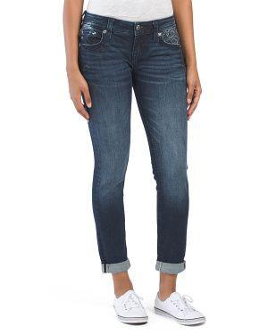 Cuffed+Skinny+Jeans