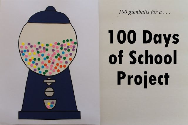 100 Days of School Project- gum ball machine