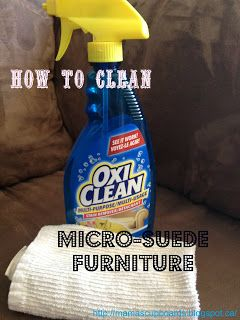 Easy way to clean micro-suede and micro fiber furniture. Awesome idea i came across this on pinterest and sure enough it works wonders