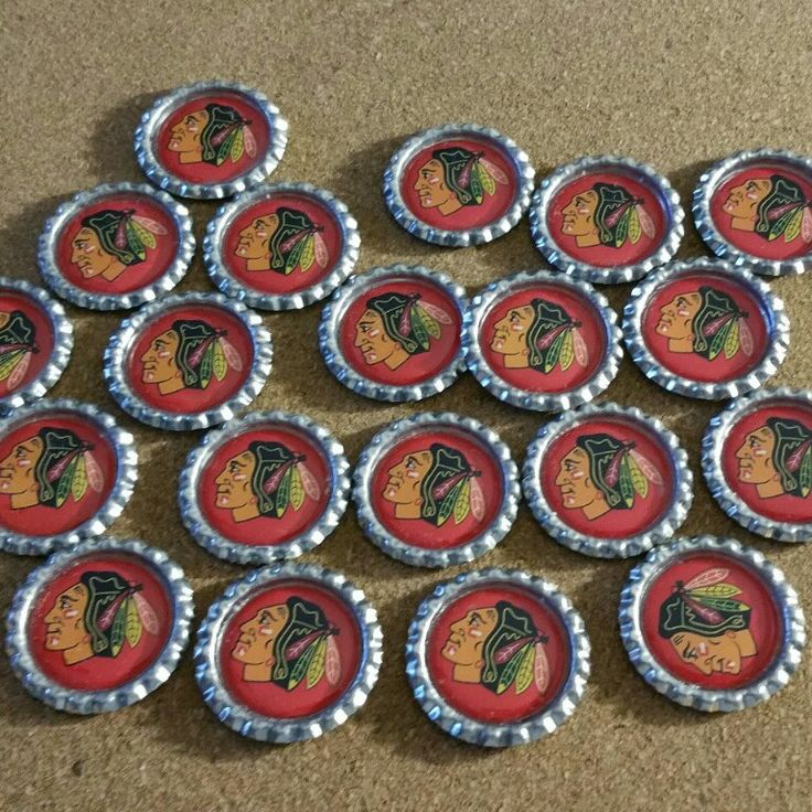 My wife and I have been busy working on custom orders. Here's what 20 Chicago Blackhawks Charms look like.