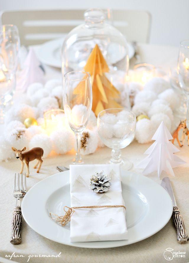 décoration de table fêtes - christmas table setting