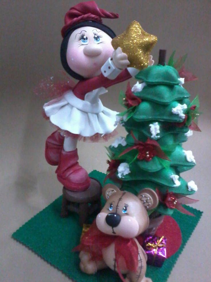 foam elf and tree