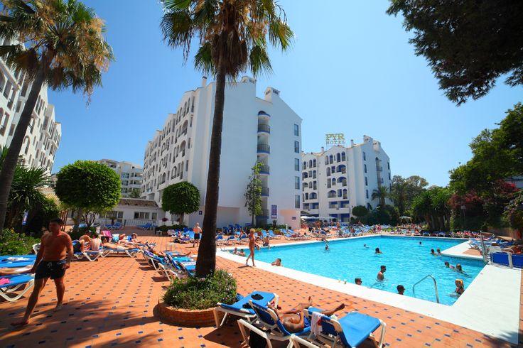 Swimming Pool area, Hotel PYR Marbella, Puerto Banus, Marbella, Costa del sol, Spain