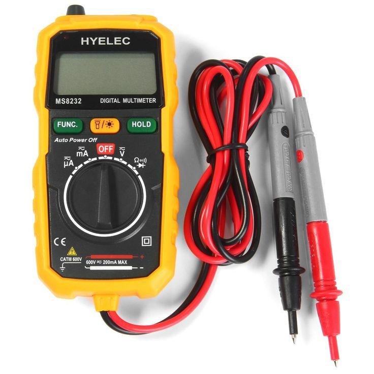HYELEC Mini הדיגיטלי מודד חשמלאי כלי אבחון בדיקות DC AC מתח זרם DC התנגדות דיודה וקישוריות