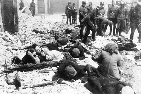 Jews are found in a bunker during the Warsaw Ghetto Uprising in May 1943.
