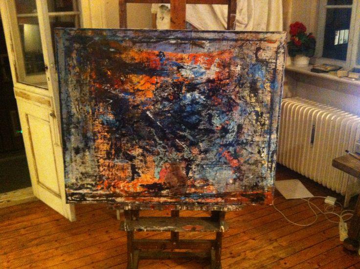 """Oljemaleri til konseptserien """"Painted Dreams"""". En serie med malerier som jeg startet på i oktober 2014 og som jeg maler på fortsatt. Utgangspunktet for disse maleriene er å visualisere mine drømmer – gode som dårlige... """"Painted Dreams"""" består av til nå 15 malerier – hvor mange det blir til slutt gjenstår å se   Oil painting from the series """"Painted Dreams"""" - 2014-15."""