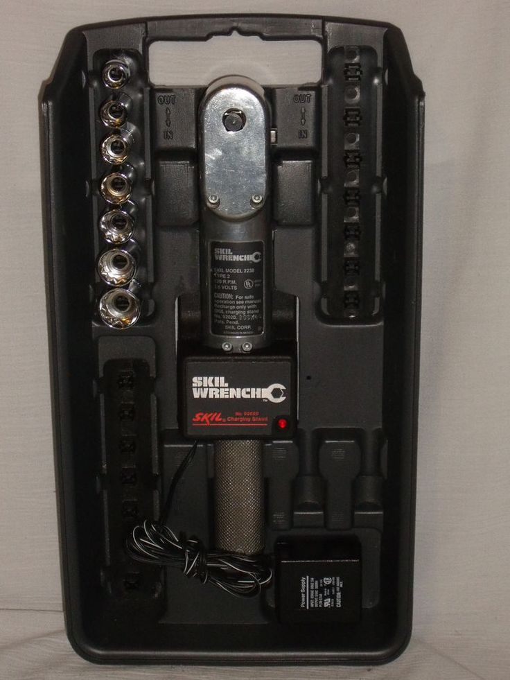 www.jaedasplaythings.com Skil Cordless Power Wrench 3.6 volts Model 2238 Type2 Charger SAE Sockets Tray #Skil