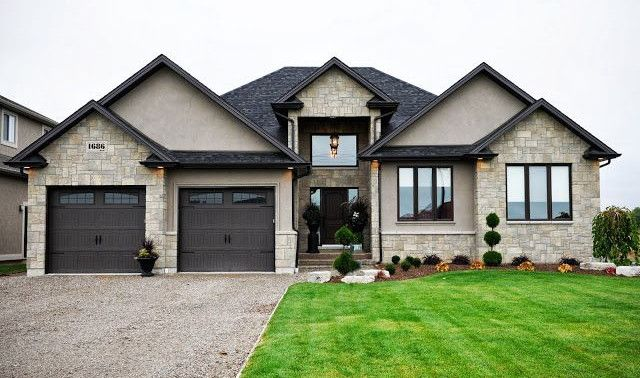 11 best stucco houses images on pinterest facades for Stucco and trim color combinations