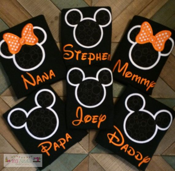HALLOWEEN Disney Shirts in Adult and Kids by 103Stitches on Etsy