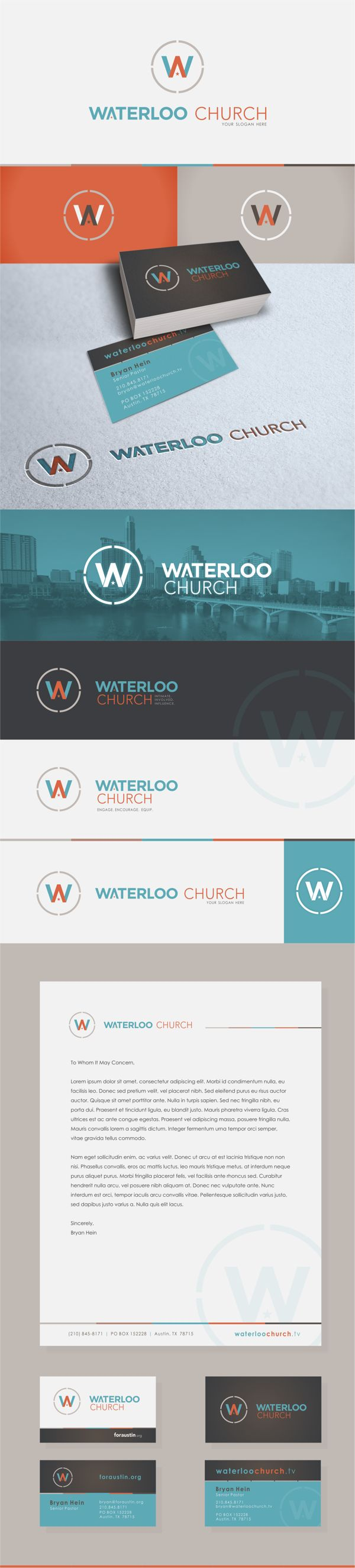 Waterloo Church - Logo & Identity Branding by Quincy Harriman, via Behance